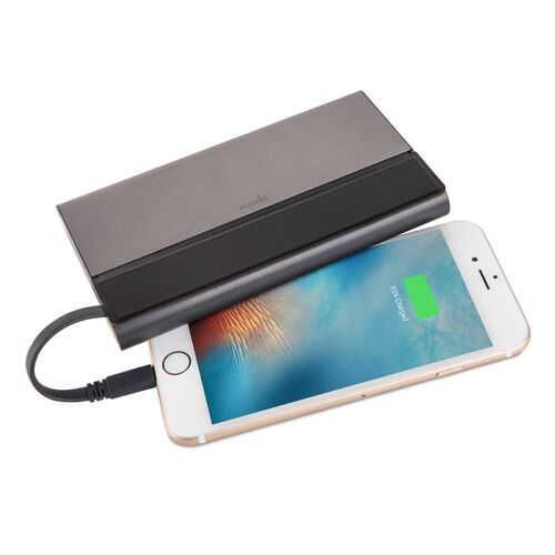 Moshi New IonBank 10K  with Lightning/USB Cable (Grey)