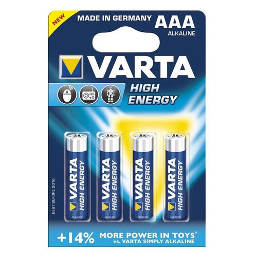 Varta Alkaline Longlife Power AAA 4 Pack