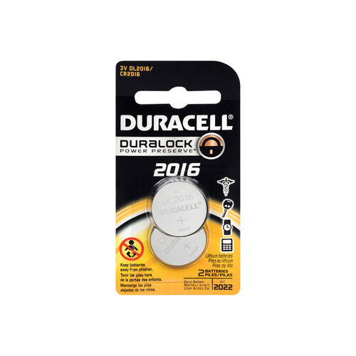 Duracell Button Cell 2016 2 Pack