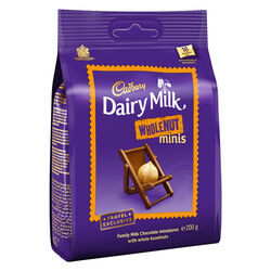 Cadbury Dairy Milk Whole Nut Chunks Bag 200g