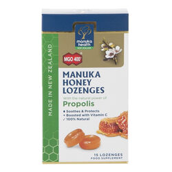 Manuka Health Manuka Honey Lozenges Propolis 15 Pack