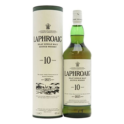 Laphroaig 10 Years Old Single Malt Whisky 1L