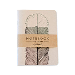 Tumbleweed A5 Huia Feather Notebook Lined
