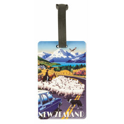 Derek Corporation NZ Collection Sheep Muster Luggage Tag