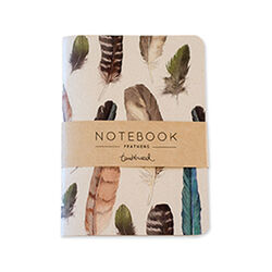 Tumbleweed A5 Painted Feathers Notebook Lined