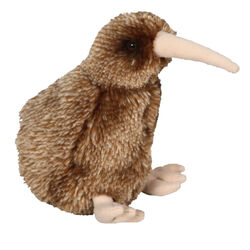 Antics Brown Kiwi Bird with Sound 15cm