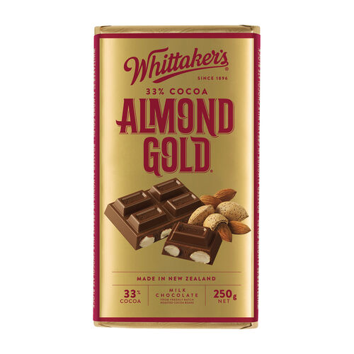Whittakers Almond Gold Block 250g