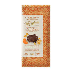 Whittakers Fijian & Kerikeri Mandarin in Dark Choc 100g
