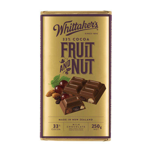 Whittakers Fruit And Nut Block 250g