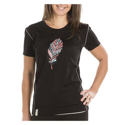 Kia Kaha Women's S/S Merino Tee Colour Black