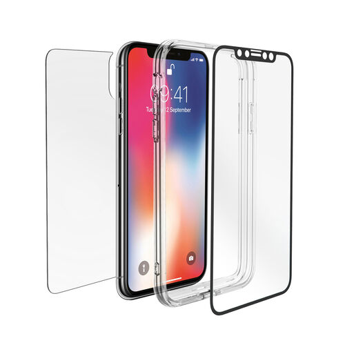 Cygnet Electronics Acc 360° Bundle Glass Front/Back Screen Protector with Bumper for iPhone XR