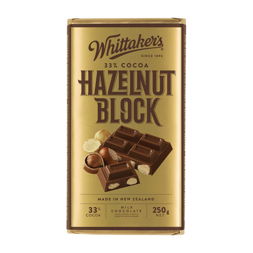 Whittakers Hazelnut Block 250g