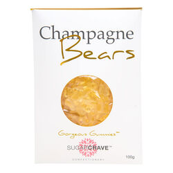 Sugar Crave Champagne Gummy Bears Pouch 100g