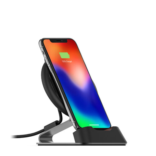 Mophie charge stream™ desk stand Universal wireless charging desk stand.