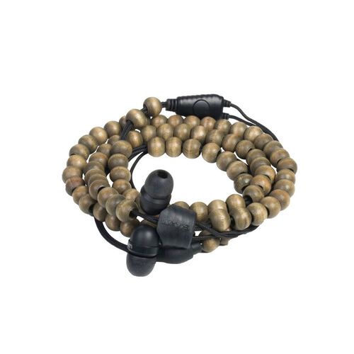 Wraps Wraps - Natural Walnut Brown Beads