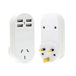 Jackson Outbound Travel Adaptor with USB UK