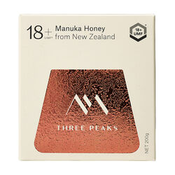 Three Peaks Three Peaks Manuka Honey UMF 18+ 200g ULTRA-PREMIUM Manuka By Three Peaks