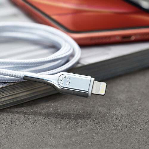 Cygnet Electronics Acc Armoured Lightning to USB-A Cable  10cm