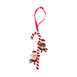Derek Corporation Candy Cane Tree Decoration Clay Candy Cane Kiwi & Sheep Tree Decoration