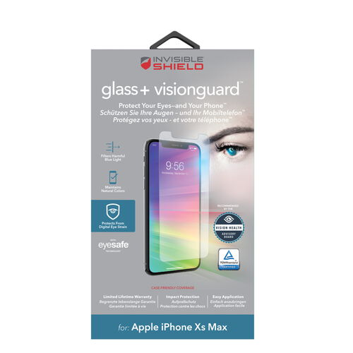 ZAG InvisibleShield Glass + VisionGuard for iPhone Xs Max