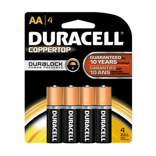 Duracell Coppertop AA 4 Pack
