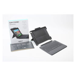 Logitech SLIM COMBO Case with Detachable Backlit Bluetooth® - Keyboard for iPad Air (3rd gen) and iPad Pro 10.5-inch